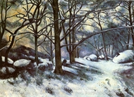 Melting Snow at Fontainebleau painting reproduction, Paul Cezanne