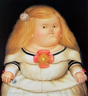 Menina (after Velazquez) painting reproduction, Fernando Botero