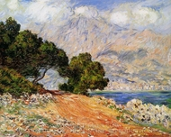 Menton Seen from Cap Martin painting reproduction, Claude Monet