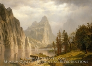 Merced River, Yosemite Valley painting reproduction, Albert Bierstadt