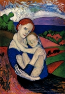 Mere et Enfant painting reproduction, Pablo Picasso (inspired by)