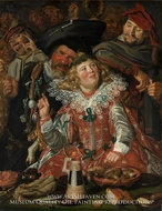 Merrymakers at Shrovetide by Frans Hals
