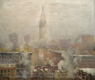 Metropolitan Tower painting reproduction, Guy C. Wiggins