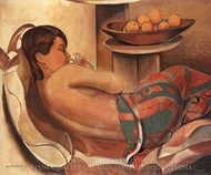 Mexican Shawl painting reproduction, Wyndham Lewis