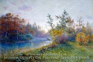 Mill Dam in Traunstein painting reproduction, William Stanley Haseltine