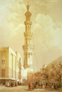 Minaret of the Principal Mosque of Siout painting reproduction, David Roberts