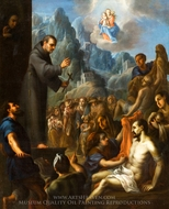 Miracles of Saint Salvador de Horta painting reproduction, Juan Rodriguez Juarez