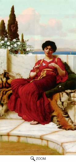 John William Godward, Mischief oil painting reproduction