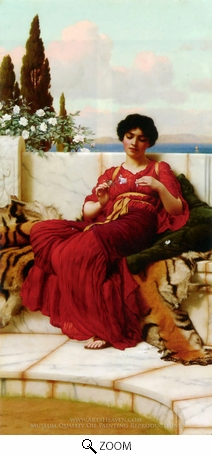 Painting Reproduction of Mischief, John William Godward