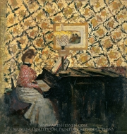 Misia at the Piano painting reproduction, Edouard Vuillard