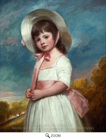 Painting Reproduction of Miss Juliana Willoughby, George Romney