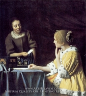 Mistress and Maid by Jan Vermeer
