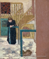 Mme Vuillard in a Set Designer's Studio painting reproduction, Edouard Vuillard