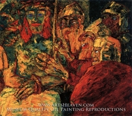 Mocking of Christ painting reproduction, Emil Nolde