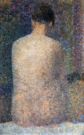Model From Behind painting reproduction, Georges Seurat