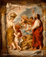 Modello for the Israelites Gathering Manna in the Desert by Peter Paul Rubens