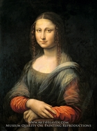Mona Lisa or The Joconde painting reproduction, Leonardo Da Vinci