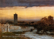 Monastery at Albano by George Inness