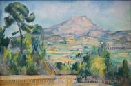 Mont Sainte-Victoire painting reproduction, Paul Cezanne