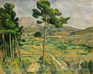Mont Sainte-Victoire and the Viaduct of the Arc River Valley by Paul Cezanne