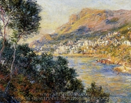 Monte Carlo Seen from Roquebrune painting reproduction, Claude Monet