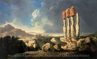 Monuments on Easter Island painting reproduction, William Hodges