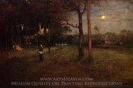 Moonlight, Tarpon Springs, Florida painting reproduction, George Inness