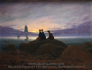 Moonrise by the Sea painting reproduction, Caspar David Friedrich