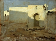 Moorish Buildings in Sunlight painting reproduction, John Singer Sargent