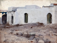 Moorish Buildings on a Cloudy Day painting reproduction, John Singer Sargent