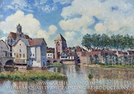 Moret-sur-Loing by Alfred Sisley