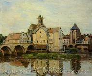 Moret-sur-Loing, Morning by Alfred Sisley