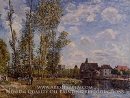 Moret, View from the Loing, May Afternoon by Alfred Sisley