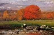Morning, Catskill Valley (The Red Oaks) by George Inness