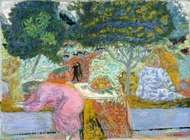 Morning in the Garden at Vernonnet painting reproduction, Pierre Bonnard