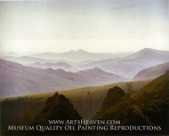 Morning in the Mountains by Caspar David Friedrich