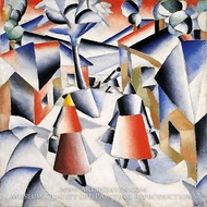 Morning in the Village after Snowstorm by Kasimir Malevich