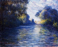 Morning on the Seine painting reproduction, Claude Monet