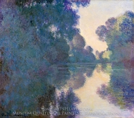Morning on the Seine near Giverny painting reproduction, Claude Monet