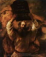 Moses with the Tables of the Law painting reproduction, Rembrandt Van Rijn