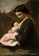 Mother and Child by Jean-Baptiste Camille Corot