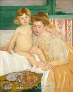 Mother and Child (Baby Getting Up from His Nap) by Mary Cassatt