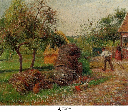 Painting Reproduction of Mother Lucien's Yard, Camille Pissarro