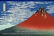 Mount Fuji in Clear Weather by Katsushika Hokusai