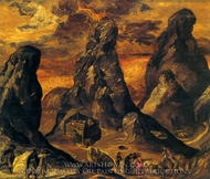Mount Sinai painting reproduction, El Greco