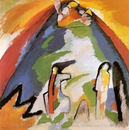 Mountain painting reproduction, Wassily Kandinsky