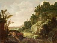 Mountain Landscape with Narcissus painting reproduction, Jacob Pynas