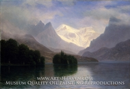 Mountain Scene by Albert Bierstadt