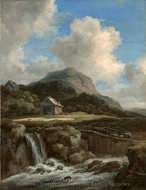 Mountain Torrent painting reproduction, Jacob Van Ruisdael