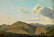 Mountainous Landscape at Vicovaro painting reproduction, Simon Denis